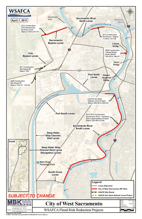 City Of West Sacramento Levee Projects Overview - Central-valley-on-us-map